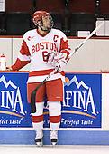 Joe Pereira (BU - 6) - The Boston University Terriers defeated the visiting Harvard University Crimson 5-2 on Saturday, January 15, 2011, at Agganis Arena in Boston, Massachusetts.