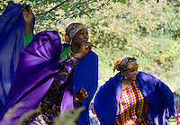 Somali woman dancers at harvest festival, Maine