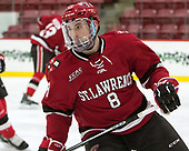 Will Harrison (SLU - 8) - The Harvard University Crimson defeated the St. Lawrence University Saints 6-3 (EN) to clinch the ECAC playoffs first seed and a share in the regular season championship on senior night, Saturday, February 25, 2017, at Bright-Landry Hockey Center in Boston, Massachusetts.