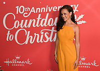 "20 November 2019 - Hollywood, California - Crystal Lowe. Hallmark Channel's 10th Anniversary Countdown to Christmas - ""Christmas Under the Stars"" Screening and Party. Photo Credit: Billy Bennight/AdMedia"