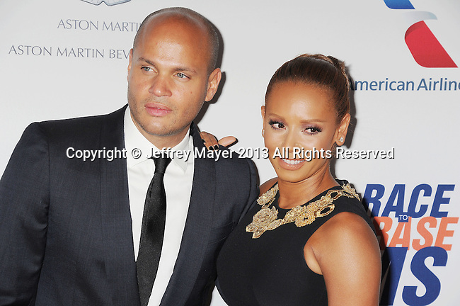 CENTURY CITY, CA- MAY 03:   Singer/TV personality Melanie Brown;Stephen Belafonte  arrive at the 20th Annual Race To Erase MS Gala 'Love To Erase MS' at the Hyatt Regency Century Plaza on May 3, 2013 in Century City, California.