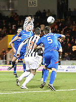 Steven Thompson heads the winner in the St Mirren v Inverness Caledonian Thistle Clydesdale Bank Scottish Premier League match played at St Mirren Park, Paisley on 30.1.13.