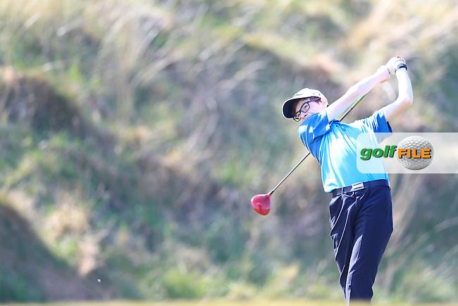 Jordan Hyland (Omagh) during the Ulster U16 Close Championship 2015, Portstewart Golf Club, Portstewart, Co Londonderry, Ireland.<br /> Picture: Fran Caffrey / Golffile