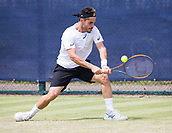 June 14th 2017, Nottingham, England; ATP Aegon Nottingham Open Tennis Tournament day 5;  Thomas Fabbiano of Italy on his way to victory over Yuki Bhambri of India