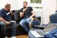 Former Germany international and Arsenal player Per Mertesacker speaks to The Gooner Fanzine TV during the Book Launch for 'The Big Friendly German' at Torrington Hall on 10th September 2019