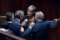 VOTAZIONE ALLA CAMERA DEI DEPUTATI IN SEDUTA COMUNE PER L  ELEZIONE DI UN GIUDICE DELLA CORTE COSTITUZIONALE..NELLA FOTO MAURIZIO GASPARRI  ANNA FINOCCHIARO E  FABRIZIO CICCHITTO..ROMA 5 OTTOBRE  2011..PHOTO  SERENA CREMASCHI INSIDEFOTO..............................