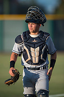 AZL Padres 1 catcher Gilberto Vizcarra (2) during an Arizona League game against the AZL Cubs 1 at Sloan Park on July 5, 2018 in Mesa, Arizona. The AZL Cubs 1 defeated the AZL Padres 1 3-1. (Zachary Lucy/Four Seam Images)