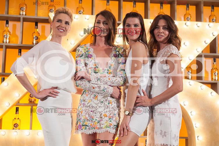 Spanish models (L-R) Judit Masco, Nieves Alvarez, Laura Sanchez and Jose Toledo pose during Licor 43 presentation in Madrid, Spain. January 29, 2015. (ALTERPHOTOS/Victor Blanco) /nortephoto.com<br /> nortephoto.com
