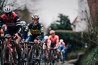 Belgian National Champion Yves LAMPAERT (BEL/Deceuninck-Quick Step) up the Kruisberg <br /> <br /> 71th Kuurne-Brussel-Kuurne 2019 <br /> Kuurne to Kuurne (BEL): 201km<br /> <br /> ©kramon