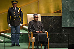 DSG meeting<br /> <br /> AM Plenary General DebateHis<br /> <br /> <br /> His Excellency Muhammadu Buhari, President, Federal Republic of Nigeria