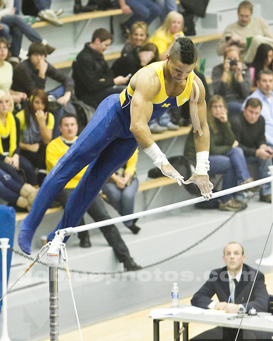The University of Michigan men's gymnastics team annual  Maize & Blue Intrasquad (Blue 320.5 over Maize 316.4) meet at Cliff Keen Arena in Ann Arbor, Mich., on December 10, 2011.
