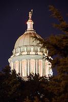 Oklahoma City Capitol Building at Night