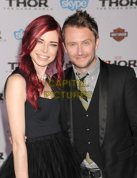 HOLLYWOOD, CA - NOVEMBER 04: Chloe Dykstra &amp; Chris Hardwick at the Los Angeles Premiere 'Thor: The Dark World' at the El Capitan Theatre on November 4, 2013 in Hollywood, California, USA.<br /> CAP/ROT/TM<br /> &copy;Tony Michaels/Roth Stock/Capital Pictures