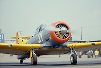 Photo of a North American AT-6 Fighter Trainer WW2 airplane.