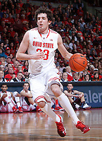 Ohio State Buckeyes guard Amedeo Della Valle (33) competes during Friday's NCAA Division I basketball game against the Louisiana-Monroe Warhawks at Value City Arena in Columbus on December 27, 2013. Ohio State won the game 71-31. (Barbara J. Perenic/The Columbus Dispatch)