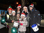 Collecting funds for the Boomerang Cafe at Fireworks display sponsored by Funtasia at Scotch Hall Shopping Centre as part of the Drogheda Christmas Bonanza Festival. Photo:Colin Bell/pressphotos.ie