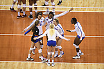 KANSAS CITY, MO - DECEMBER 16: University of Florida players celebrate during the Division I Women's Volleyball Championship held at Sprint Center on December 16, 2017 in Kansas City, Missouri. (Photo by Jamie Schwaberow/NCAA Photos via Getty Images)