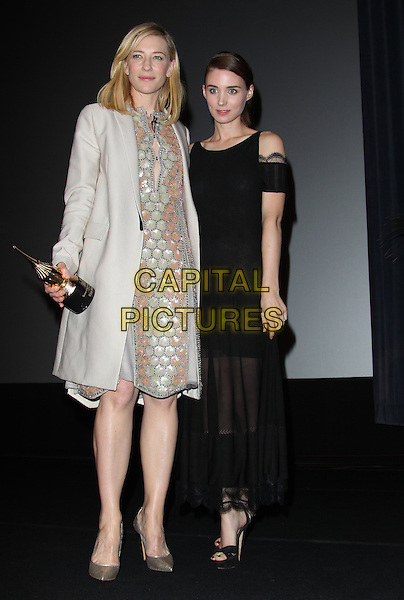 1 February 2014 - Santa Barbara, California - Cate Blanchett, Rooney Mara.  Cate Blanchett honoured with Outstanding performer of the year award, 29th Santa Barbara International Film Festval Held At The Arlington Theatre, Santa Barbara, California, USA. <br /> CAP/ADM/FS<br /> &copy;Faye Sadou/AdMedia/Capital Pictures