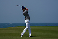 Jeff Winther (DEN) on the 9th during Round 3 of the Oman Open 2020 at the Al Mouj Golf Club, Muscat, Oman . 29/02/2020<br /> Picture: Golffile   Thos Caffrey<br /> <br /> <br /> All photo usage must carry mandatory copyright credit (© Golffile   Thos Caffrey)