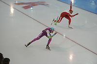 SCHAATSEN: GRONINGEN: Sportcentrum Kardinge, 17-01-2015, KPN NK Sprint, Oscar van Leen, Koen Verweij, ©foto Martin de Jong