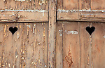 Weathered Stable doors in Alsace, France