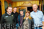 lAttending the Launch of the Paddy O'Keeffe annual traditional Irish music Festival last Friday night in the RiverIsland hotel in Castleisland were L-R Cllr Fionnan Fitzgerald, Conor O'Mahony, John Reidy, Mary Jones, and Cormac O'Mahony who are all founder and organisers of the festival.