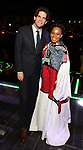 "Alex Timbers and Bahiyah Hibah during the Broadway Opening Night Legacy Robe Ceremony honoring Bahiyah Hibah for  ""Moulin Rouge! The Musical"" at the Al Hirschfeld Theatre on July 25,2019 in New York City."