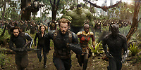 Avengers: Infinity War (2018) <br /> Chris Evans, Chadwick Boseman, Sebastian Stan, Scarlett Johansson, Mark Ruffalo, Anthony Mackie, Don Cheadle &amp; Danai Gurira<br /> *Filmstill - Editorial Use Only*<br /> CAP/KFS<br /> Image supplied by Capital Pictures