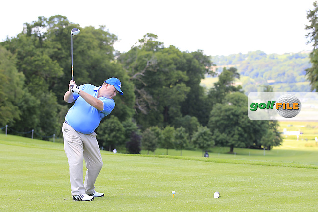 Mikael Lundberg (SWE) team during Wednesday's Pro-Am of the 2014 Irish Open held at Fota Island Resort, Cork, Ireland. 18th June 2014.<br /> Picture: Eoin Clarke www.golffile.ie