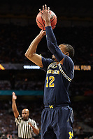 SAN ANTONIO, TX - APRIL 2, 2018: The Villanova University Wildcats defeat the University of Michigan Wolverines 79-62 in the Championship Game of the NCAA Men's Basketball Final Four at the Alamodome. (Photo by Jeff Huehn)