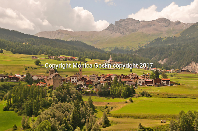 The towns of Riom-Parsonz and Parsonz in the Albula district of Switzerland