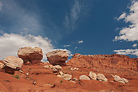 731350260 twin rocks formation in capitol reef national park utah united states