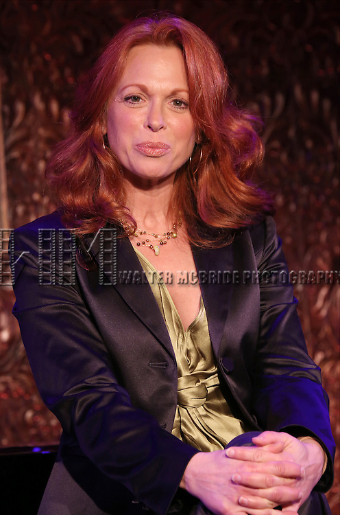 """Carolee Carmello performs A Special Press Preview of their upcoming show """"Broadway Showstoppers!""""  at 54 Below on April 4, 2014 in New York City."""