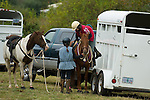 Horses and riders in Crescent City California