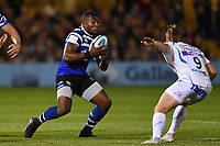 Semesa Rokoduguni of Bath Rugby in possession. Gallagher Premiership match, between Bath Rugby and Exeter Chiefs on October 5, 2018 at the Recreation Ground in Bath, England. Photo by: Patrick Khachfe / Onside Images