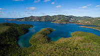 Looking towards Fortsberg and Coral Bay from Hurricane Hole<br /> St. John<br /> US Virgin Islands