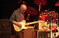Pictured: Mickey Gee with his support band 20 March 2004<br /> Re: Love with Arthur Lee at the Brycheiniog Theatre in Brecon, Powys, Wales, UK