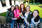 Claire McCormack, Zainab Lawal, Edel Campion, Niamh Rahilly and Clodagh Begley, Presentation Secondary School, Tralee, who received their Junior Certificate results on Wednesday morning last.