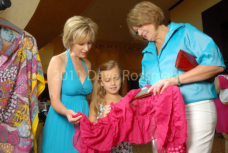 Linda Russell with her daughter Kelli Nations and granddaughter Abigail Armour at the Women's Hospital of Texas annual luncheon at the InterContinental Saturday Aug. 29, 2009.(Dave Rossman/For the Chronicle)