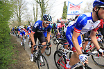 The 2nd group on the road including Ian Stannard (GBR) Team Sky climb Mont Noir during the 2019 Gent-Wevelgem in Flanders Fields running 252km from Deinze to Wevelgem, Belgium. 31st March 2019.<br /> Picture: Eoin Clarke | Cyclefile<br /> <br /> All photos usage must carry mandatory copyright credit (© Cyclefile | Eoin Clarke)