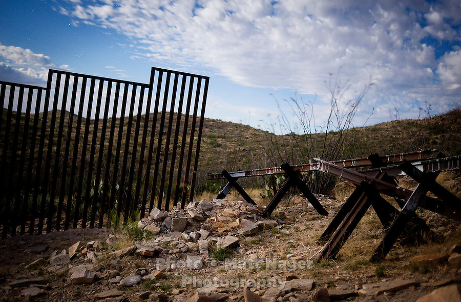 The border fence ends a couple miles inland from a checkpoint in in Sasabe, Arizona, Friday, June 5, 2009. While much of the border in California and Texas has been secured with walls and fencing, the desert and mountain ranges in Arizona and the Sonora desert have remained open and have become major crossing points for drug smugglers, human traffickers, and unidentified migrants willing to risk their lives in 100 degree heat and 60 mile crossings. ..PHOTOS/ MATT NAGER