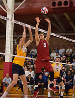 STANFORD, CA - March 10, 2018: Russell Dervay at Burnham Pavilion. The Stanford Cardinal lost to UC Irvine, 3-0.