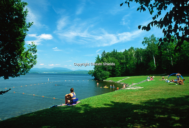 Swimming Area at Rangeley Lake State Park, Rangeley, Maine, USA