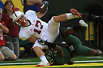 10/02/10--  Stanford wide receiver Griff Whalen scores a touchdown aganst Oregon at Autzen Stadium in Eugene, Or.Photo by Jaime Valdez......