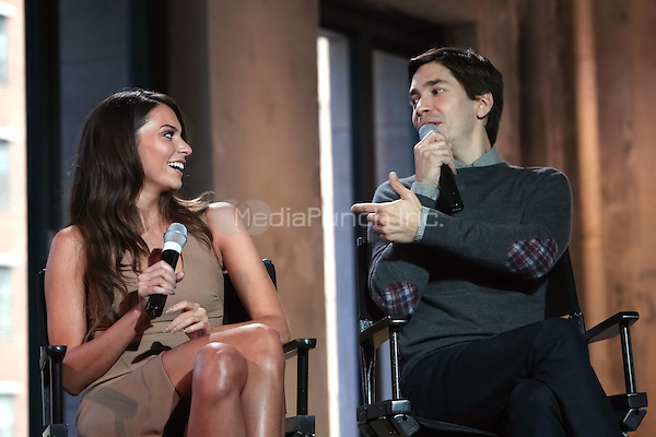 New York, NY - September 10 : Actors Genesis Rodriguez & Justin Long attend the AOL Build Speaker Series Presents: Justin Long & Genesis Rodriguez discussing their experience on the new Kevin Smith film, 'Tusk' at AOL Studios in New York City on September 10, 2014 Credit: Brent N. Clarke / MediaPunch
