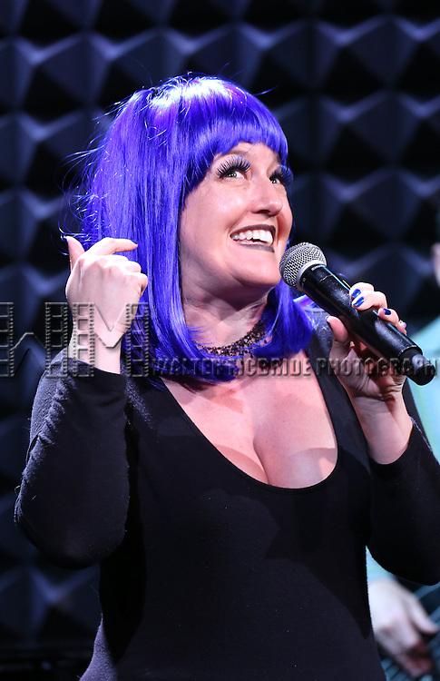 Jennifer Simard in rehearsal for 'The Lord & The Master - Broadwayworld.com sings Andrew Lloyd Webber & Stephen Sondheim'  at Joe's Pub on June 16, 2014 in New York City.