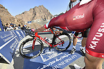 Marcel Kittel (GER) Team Katusha Alpecin gasps for breath after Stage 4 The Municipality Stage of the Dubai Tour 2018 the Dubai Tour&rsquo;s 5th edition, running 172km from Skydive Dubai to Hatta Dam, Dubai, United Arab Emirates. 9th February 2018.<br /> Picture: LaPresse/Fabio Ferrari | Cyclefile<br /> <br /> <br /> All photos usage must carry mandatory copyright credit (&copy; Cyclefile | LaPresse/Fabio Ferrari)