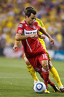 3 JULY 2010:  Marco Pappa of Chicago Fire (16) during MLS soccer game between Chicago Fire vs Columbus Crew at Crew Stadium in Columbus, Ohio on July 3, 2010.