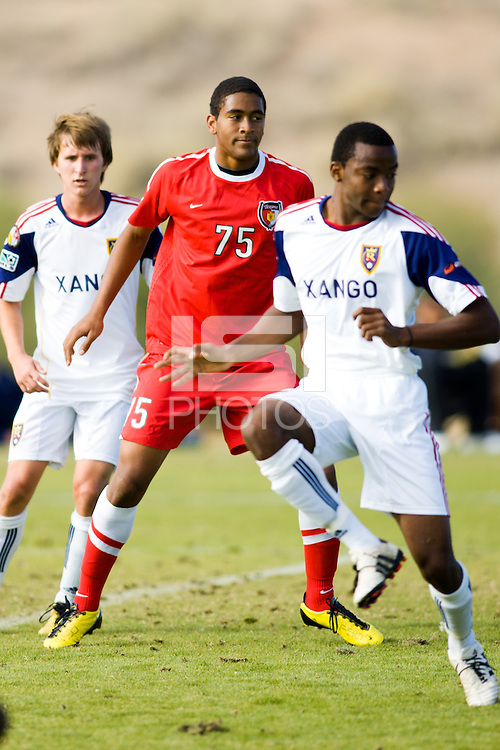 2010 US Soccer Development Academy Winter Showcase U17/18 Real Salt Lake AZ vs DallasTexans at Reach 11 Soccer Complex in Phoenix, Arizona in December of  2010.
