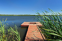 Lac St. Leon and dock, Saint Leon, Manitoba, Canada